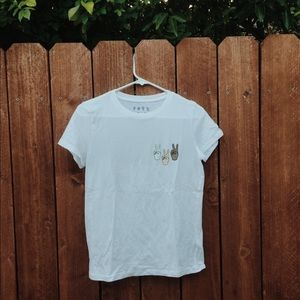 Tops - peace sign white t-shirt